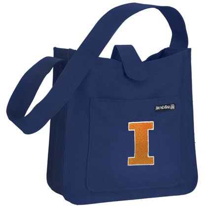University of Illinois Shoulder Bag Cute Small Fighting Illini Logo - Official NCAA College Purse Handbags Best Unique Gift Ideas For Her Ladies Women Girls Students Graduation Alumni or Fans ()