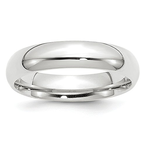 14k White Gold 5mm Standard Comfort Fit Band Size 14 by Saris and Things