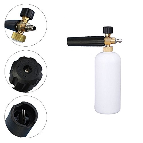 OrchidBest Professional Car Wash Gun Snow Foam Lance Adjustable Foam Cannon with Quick Release 34oz 1L Bottle