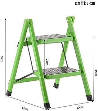 BBG Taburete Plegable Fácil Y Multifunción Conveniente, Escaleras de Tijera para Escalera Escalera Plegable Ligera con Empuñadura Antideslizante Escalera de Acero Robusta Y Ancha Mini-Taburete / 20X1: Amazon.es: Bricolaje y herramientas