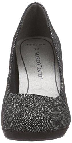Couvert Femme Avant 22414 Marco Schwarz Struct Chaussures Noir du Tozzi Pieds à 006 Talons Black nwS8qAHXzS