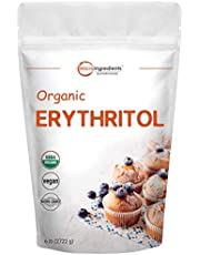Micro Ingredients Organic Erythritol Granular, 6 Pounds, No Calorie, Sugar Substitute, Natural Sweetener, Non-GMO and Vegan Friendly
