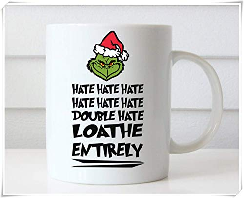 Gloss Mysterious - Grinch Mug, Dr Seuss Quotes, How The Grinch Stole Christmas, Christmas Coffee Mug, Gifts, 11oz Ceramic Coffee Mug/Tea Cup, High Gloss, Mysterious Black For Men, Strong People by King Of Mug