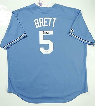 George Brett Autographed Kansas City Royals Majestic Jersey ...
