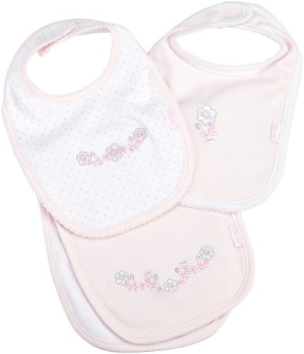 Little Me Baby-Girls Newborn Posy 2 Bib/Burp Set