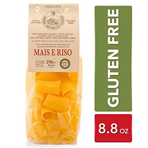 - Morelli Italian Gluten Free Paccheri Pasta made from Corn & Rice - Pasta Di Mais E Riso - 8.8 oz