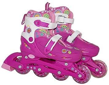 8705a3c6c Patins Infantil Feminino Roler com acessórios e capacete 36 39 ...
