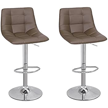 Amazon Com Adeco Modern Swivel Adjustable Leather Brown