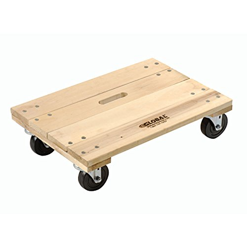 Hardwood Dolly - Solid Deck, 24 x 16, 1200 Lb. Capacity