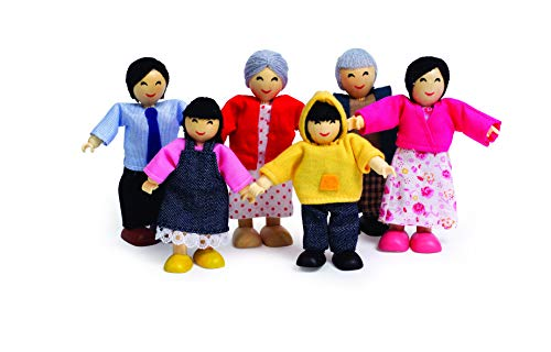 Hape Asian Wooden Doll House Family Set (Hope Dolls)