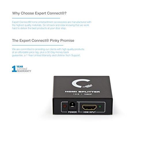 Expert Connect 1x2 HDMI Splitter | 2 Port | Full HD/3D | 1080P
