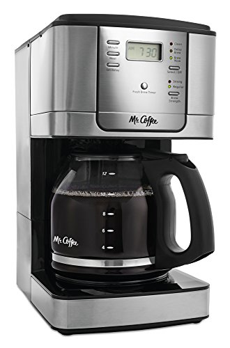 Mr. Coffee 12-Cup Programmable Coffee Maker, Stainless Steel by Mr. Coffee
