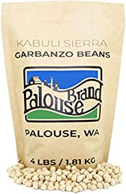 Kabuli Sierra Garbanzo Beans aka Chickpeas or Ceci Beans | Non-GMO Project Verified | 4 LBS | 100% Non-Irradiated | Certifie