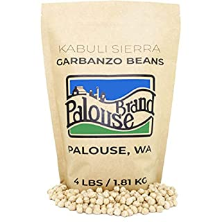 Garbanzo Beans • Chickpeas • 100% Desiccant Free • 4 lbs • Non-GMO Project Verified • Kosher Parve • USA Grown • Field Traced • Kraft Bag