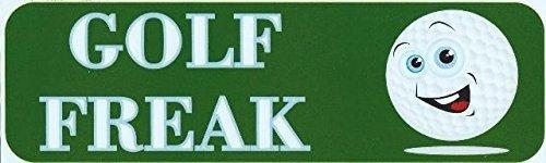 Balls Golf Freak (Yetta Quiller 3in x 18in Golf Freak Bumper Aluminums Modern decals decal Aluminum golf balls)