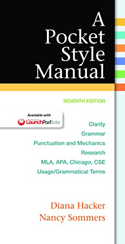 A Pocket Style Manual, Seventh Edition Pdf