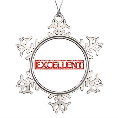 Metal Ornaments Tree Branch Decoration Excellent Stamp Excellent Xmas Tree -