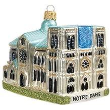 Notre Dame Cathedral Landmark Paris France Polish Glass Christmas Ornament Souvenir 110152