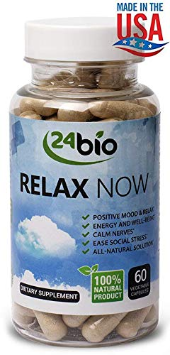 Stress Support and Anxiety Relief Supplement- Anti Depression-Mood Booster, Keeps your Mind Relaxed Focused and Calm, full of Rhodiola Rosea, Gotu Kola Extract, Magnesium, Calcium, Biotin and Vitamins