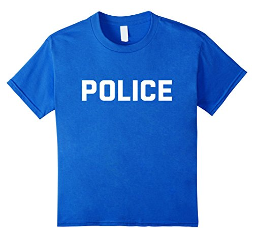 Police T-Shirt for Halloween Costume - Cop Cheap Halloween T