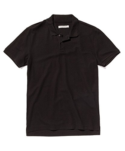 Outerknown Men's Nomadic Polo, Medium, Pitch Black