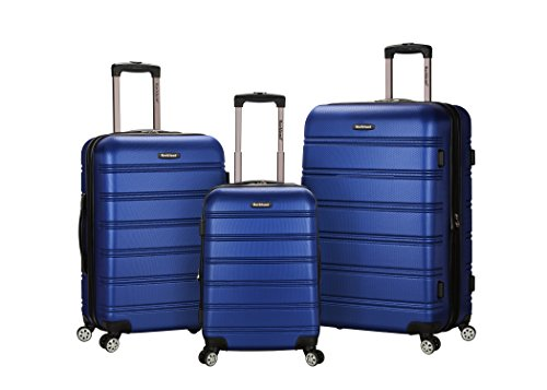 Rockland Luggage Melbourne 3 Piece Set, Blue, One Size