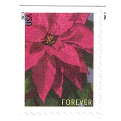 USPS Poinsettia Forever Postage Stamps -- Booklet of 20: Office Products
