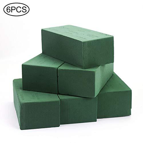 6 PCS Floral Foam Bricks, Florist Flower Styrofoam Green Bricks Flower Arrangement Brick Supplies for Florist Craft