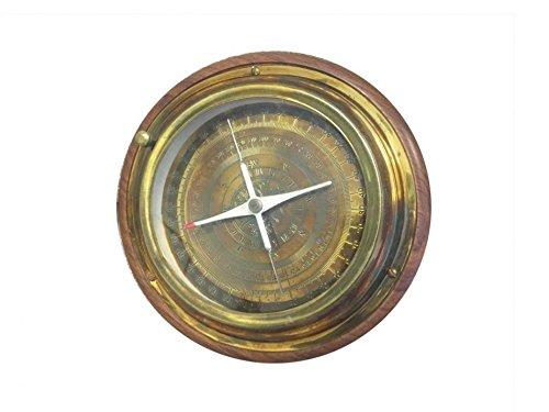 (Handcrafted Model Ships Antique Brass- Directional Desktop Compass 6)