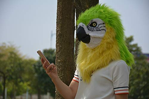 JINHUA Trade-Mask Maschera di Copricapo Animale Pappagallo Adulto della Mascherina della Bocca commovente della Maschera Animale del Copricapo Mascherata ( Colore   giallo , Dimensione   2525 )
