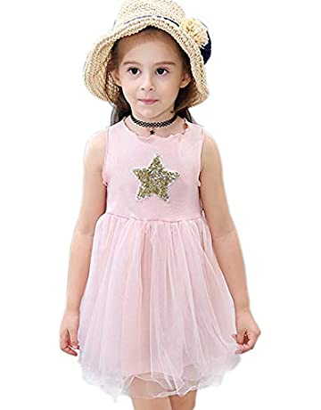 d6a1a14251f3ce Angelland Girls Dresses Summer Star Dress Up Costume with Unicorn Headband  Gifts Tutu Tulle Skirts Fancy