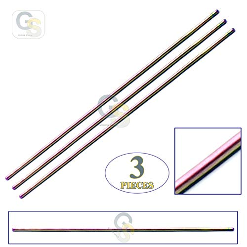 "G.S Lot of 3 Pcs Multi Titanium Rainbow Color Probe Double Ended 5.5"" Dissecting Surgi Instrument Best Quality"