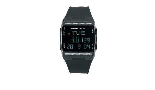 Momodesign Essenziale Dual Time Special 600000500 - Reloj de Caballero de Cuarzo, Correa de Goma Color Negro: Amazon.es: Relojes
