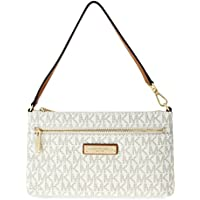 Michael Kors Jet Set Travel Large Logo Wristlet Handbag (Vanilla)