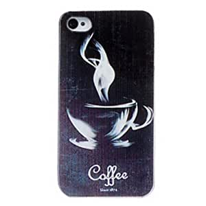Beautiful Coffee Cup Pattern PC Hard Case for iPhone 4/4S