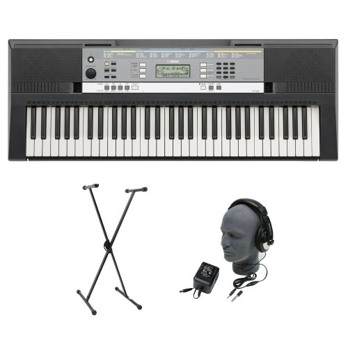 Yamaha YPT-240 61-Key Premium Keyboard Pack with Headphones Power Supply and Stand