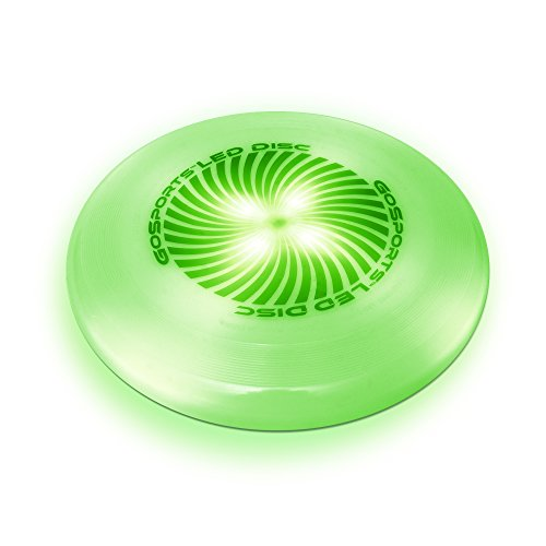 Dark Frisbee (GoSports LED Flying Disc, 175 grams, with 4 LEDs, Green)