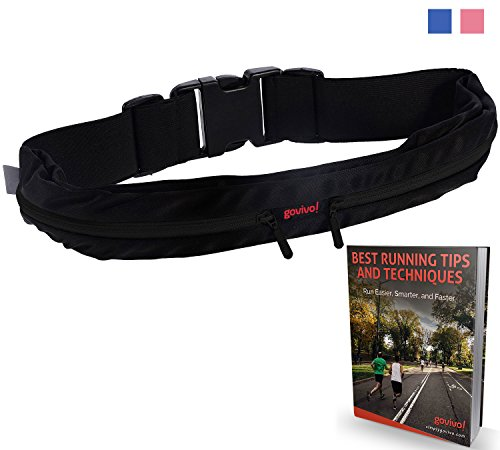 Superior WAIST PACK with Reinforced YKK Zipper - Two expandable pockets to bring your iPhone 6 or other cell phone, keys, cash, fitness gear, wallet and passport - Can be used for running gear but also as a money belt both for men and women - Customers sa