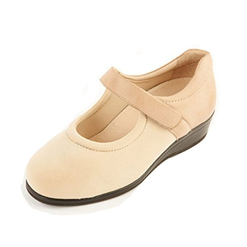 1 Wide Women's 3 Ankle Beige Padded Fit Shoe Adjustable Sandpiper Box in Extra Toe 'Walmer' Support 6E 4E System Deep Width qwvcIdf