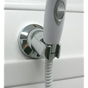 Camco 43719 Adjustable Shower Head Wall Mount (Chrome Colored)