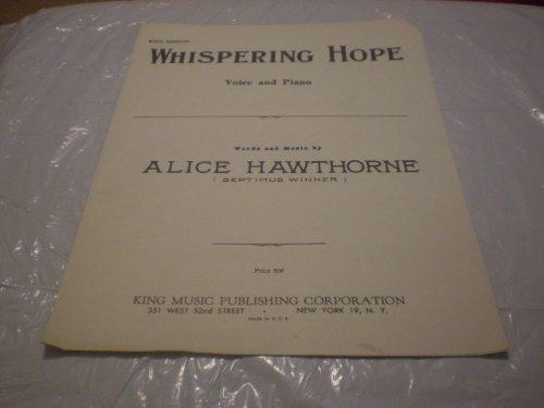 WHISPERING HOPE ALICE HAWTHORNE 1955 SHEET MUSIC FOLDER 525