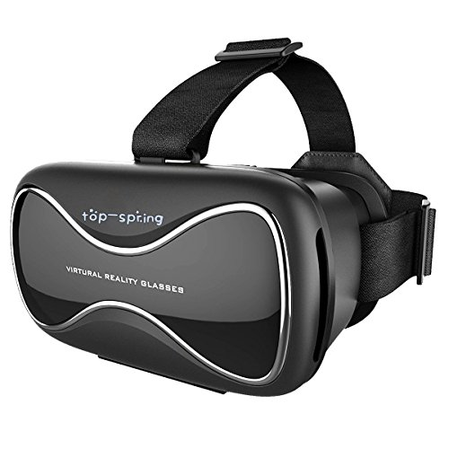Top-spring 3D VR Glasses, Lightweight Virtual Reality VR Box Viewing Glasses for iPhone & Android Smartphones ( Compatible up to 600° of Nearsightedness)