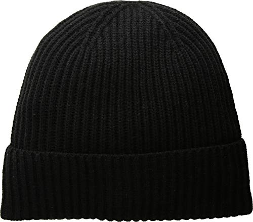 Kate Spade New York Women's Solid Bow Beanie Hat, Black, One Size ()
