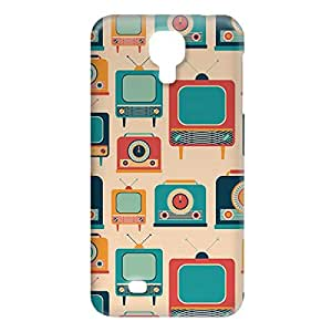 Loud Universe Samsung Galaxy S4 Retro Telecast Print 3D Wrap Around Case - Multi Color