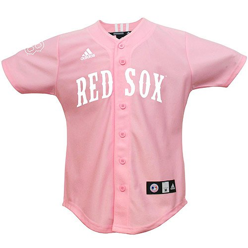 MLB Boston Red Sox Youth Pink Jersey By Adidas