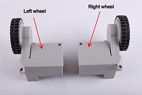 Liectroux Robotic Vacuum Spare Parts Left&Right Wheels for A320, A335, A336, A337, A338