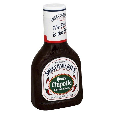 Sweet Baby Ray's Honey Chipotle Barbecue Sauce 18oz 1 Pack