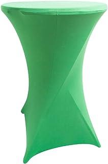 BESTONZON 80 x 110 cm Stretch Table Cover Lycra Cocktail Poseur Dry Bar Spandex Table Chiffon Noce Décorations pour Fête de Mariage (Vert)