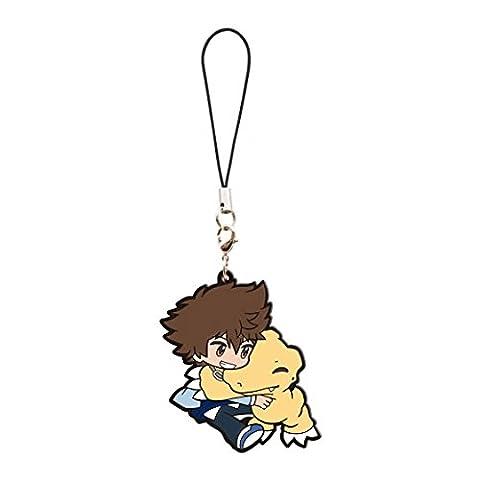 Digimon Adventure Tri: Taichi and Agumon Pvc Keychain ~ Yagami Taichi and Agumon (Digimon Miniatures)