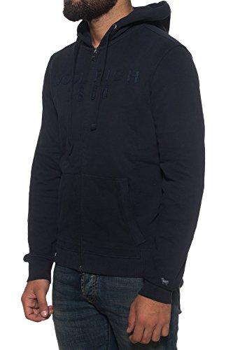 Woolrich Blu Zip Con Cappuccio Navy Logo Wofel1059 Full Felpa 300a HHw8r